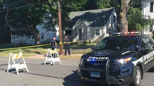 West Hartford police say shots were fired on Jackson Avenue Sunday morning. (WFSB)