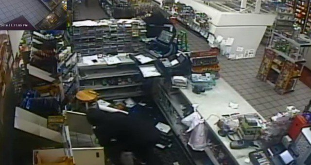 Police are searching for convenience store robbers