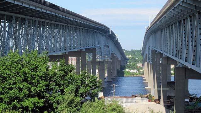 The Gold Star Bridge in Groton. (Wikicommons photo)