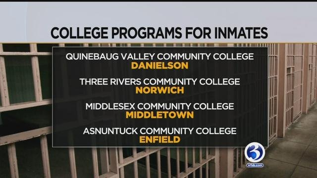 Some community colleges offering education programs to inmates. (WFSB)