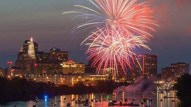 The City of Middletown fireworks festival moved to Saturday. (WFSB)