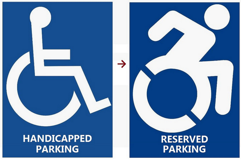 The new handicapped parking sign (Flickr/Dannel Malloy)