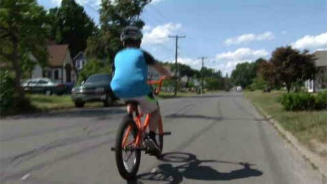 12-year-old Ryan Gauvin is able to enjoy the summer after he gets a brand new bike from a neighbor. (WFSB)