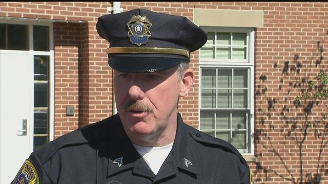 Sgt. Jeremiah Dunn discusses the new information that led to the arrest of Austin Haughwout. (WFSB photo)