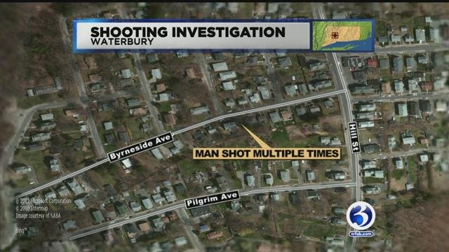 Police are searching for a cranberry Impala following Waterbury shooting. (WFSB)