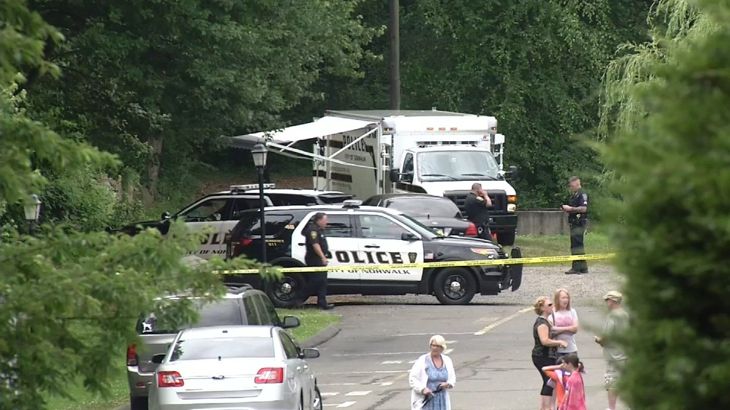 Police are investigating an assault near a condo complex inNorwalk on Friday morning. (WFSB)