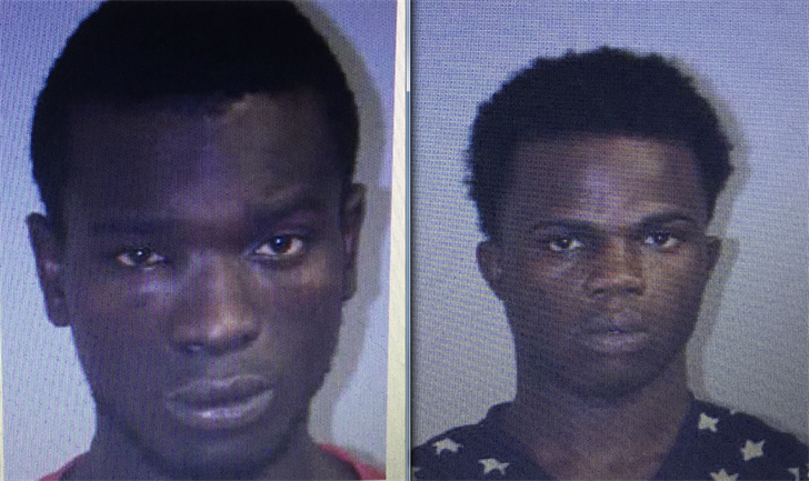 Peter Daylue (left) and Neksone Allah-Digui (right) were arrested for breaking into a Killngly home Saturday (State PD)