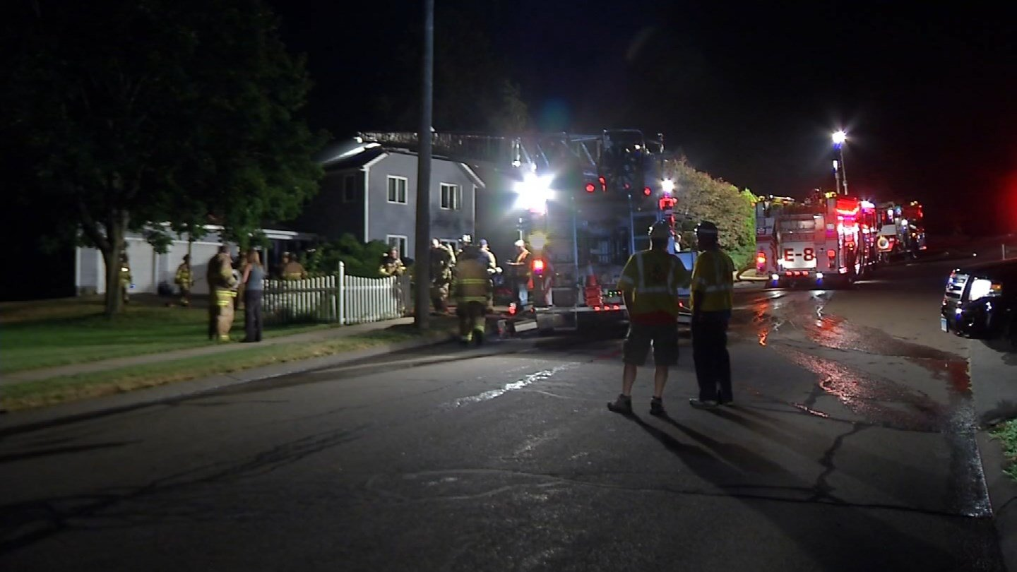 A basement fire ignited on Casner Drive in Berlin overnight. (WFSB photo)