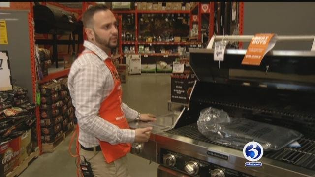 Home Depot shows Eyewitness News the best grilling tips. (WFSB)