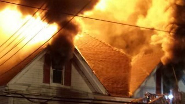 Fire damaged a home in Vernon early Tuesday morning. (iWitness photo)