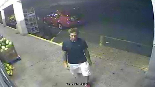 Waterford police are looking for a man who stole watermelons and water jugs from a grocery store. (Watertown PD)