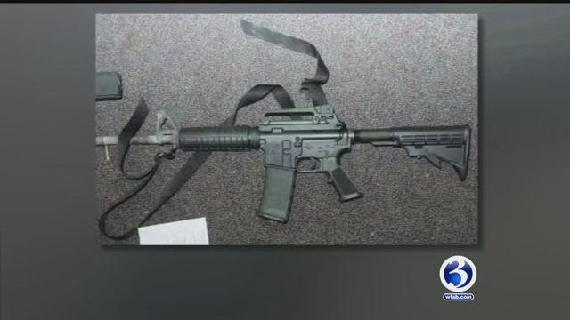 The AR-15 rifle used by the Sandy Hook shooter in 2012 was made by Remington Arms. (State police photo)
