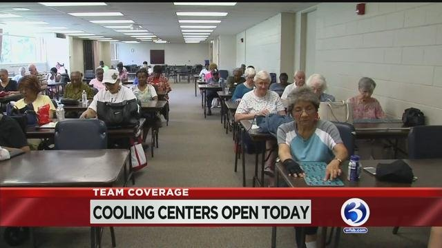Cooling centers are open in Hartford today as the state deals with hot and humid weather (WFSB).