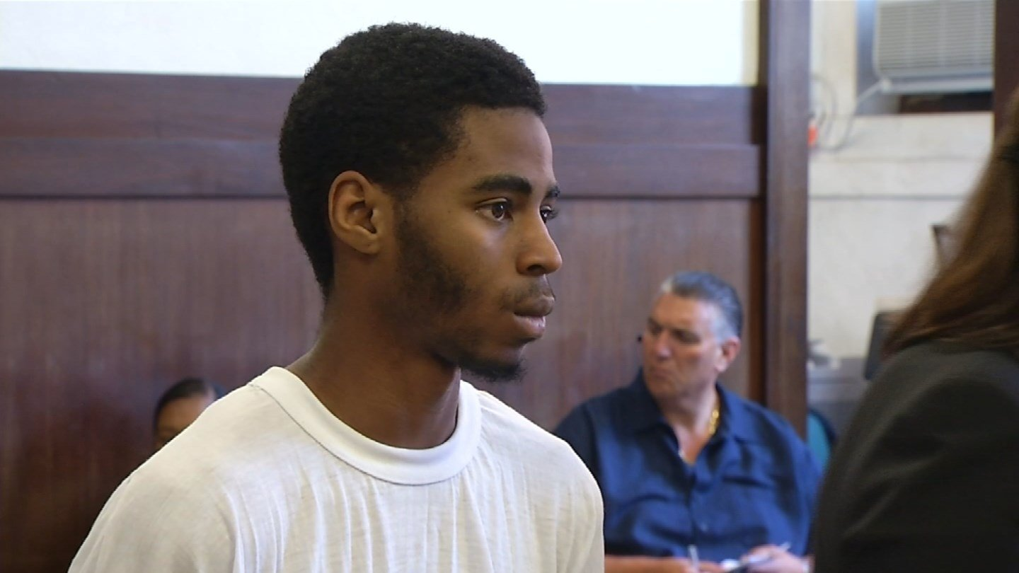 Travis Ingram during a court appearance on Wednesday. (WFSB photo)