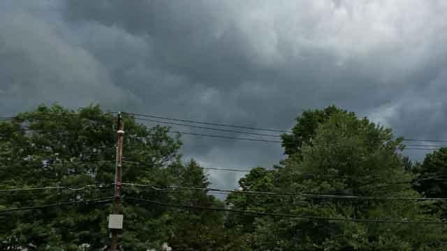 Ominous skies in Middletown on Thursday. (iwitness)