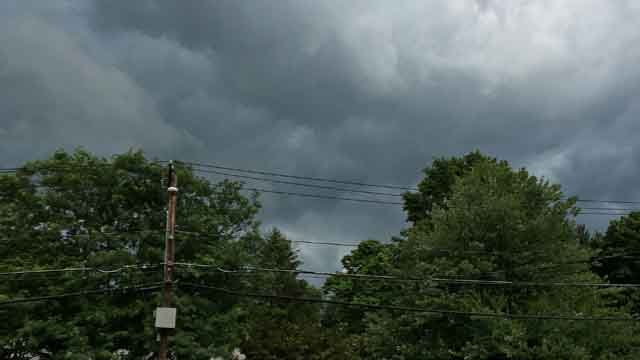 Ominous skies in Middletown on Thursday. (iwitness)