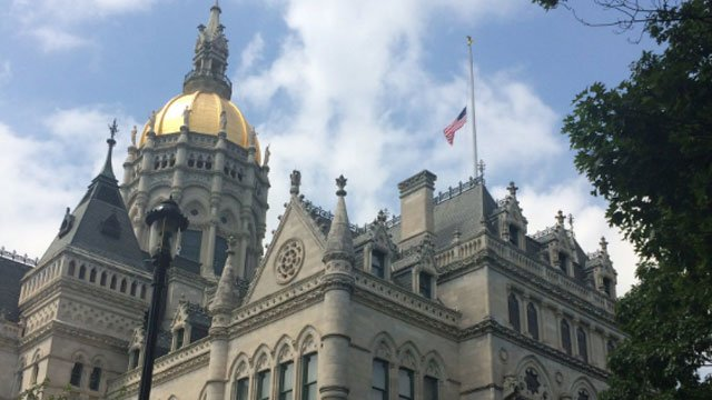 Flags lowered to half-staff to honor the church shooting victims. (@GovMalloyOffice)