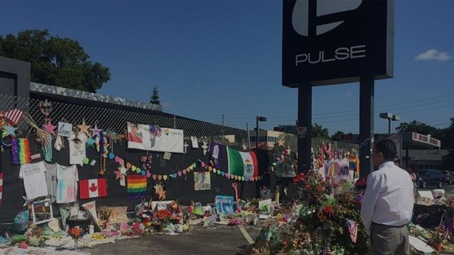 Gov. Dannel Malloy visited the Pulse nightclub in Orlando, Fl. on Friday, where a mass shooting happened last month. (Governor's office)