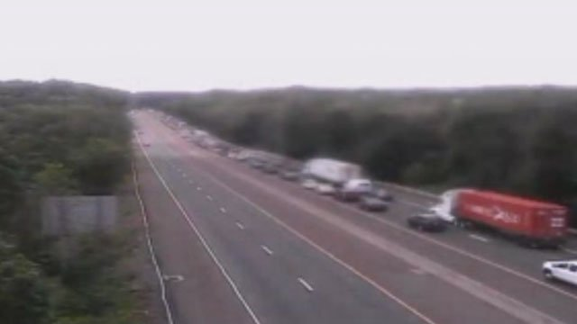 Traffic delays reported after crash on Interstate 95 in Branford this afternoon. (DOT Cameras)
