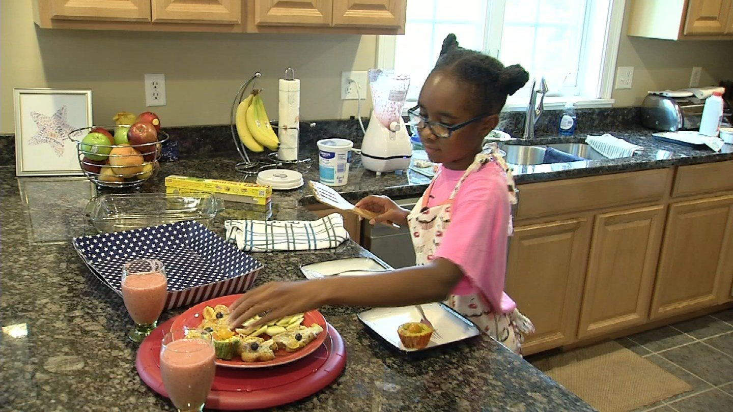 springtime lunchtime made by Kalaya Moore. (WFSB)