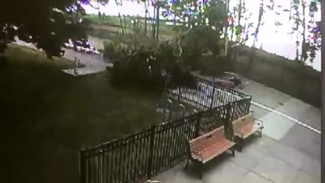 West Haven police released surveillance video from last week's lightning strike. (West Haven Police)