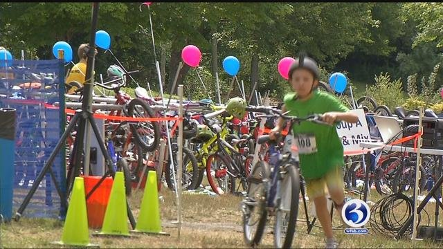 There were 200 kids that participated in the third annual Race for Chase Kids Community Triathlon. (WFSB)