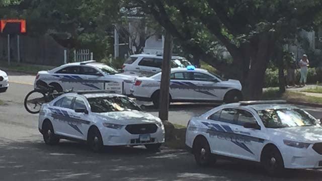 A heavy police presence was seen in a neighborhood in Wallingford on Monday. (iwitness)