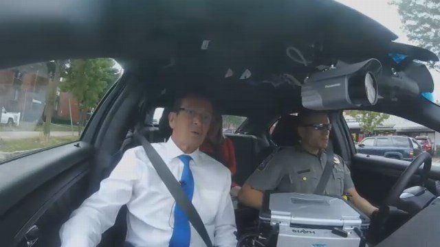 Channel 3's Erin Connolly conducted an exclusive interview with Gov. Dannel Malloy and State Trooper Tyler Weerden following recent violence. (WFSB)