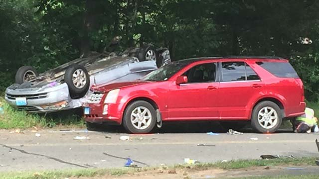 One person died in a crash in Soutbury on Monday afternoon. (WFSB)