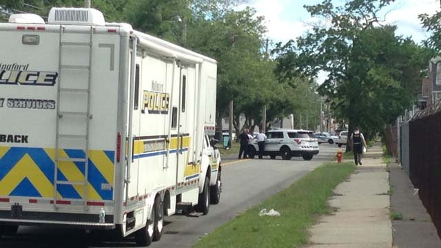 Police blocked off North Cherry Street in Wallingford on Monday. (WFSB)