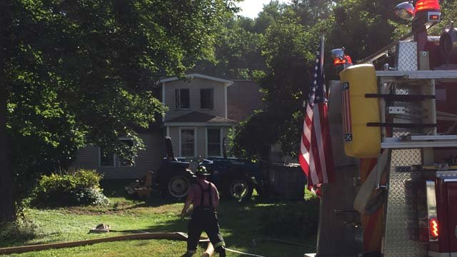 A fire broke out at a home on Pine Street in Columbia Tuesday morning. (WFSB photo)