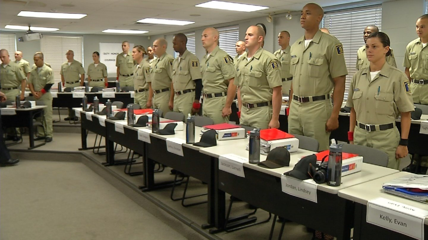 Officers attend Kingian Training in New Haven. (WFSB)