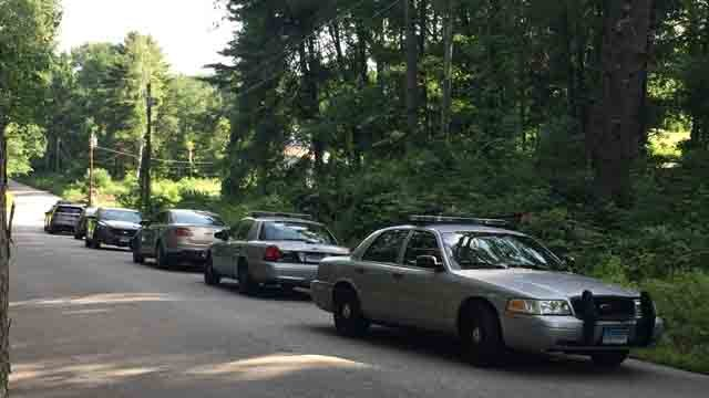 Heavy police presence was seen in Stafford on Tuesday. (WFSB)