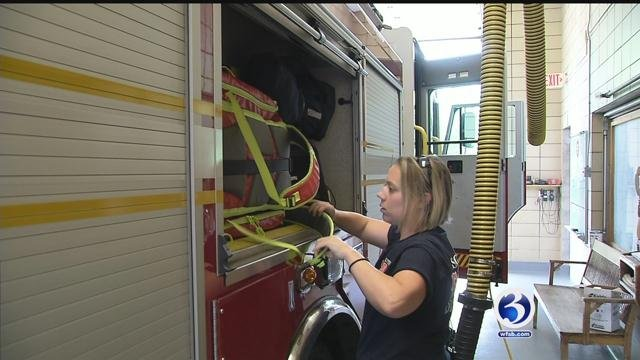 Women are slowly climbing the ranks of fire departments in Connecticut. (WFSB)