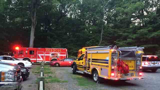 Emergency crews were called to Millers Pond Tuesday night. (WFSB)