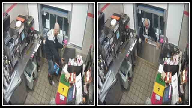 Rocky Hill police are trying to track down a man accused of robbing a Dunkin Donuts. (Rocky Hill Police)
