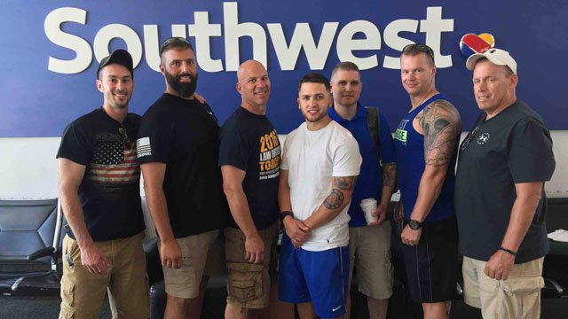 Middletown officers head to Texas to support the Dallas Police Department. (Middletown police photo)