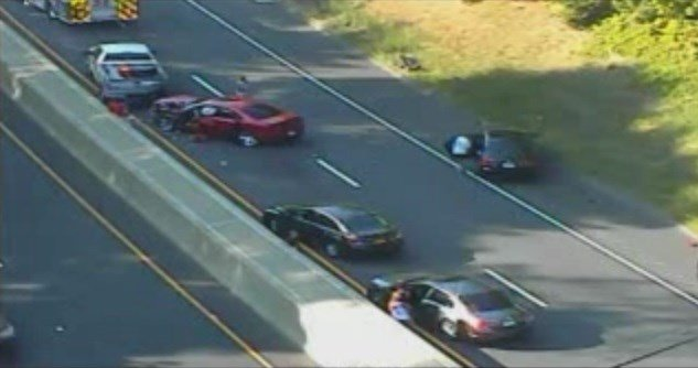 Crash caused big delays on Route 9 in Middletown. (CT DOT)
