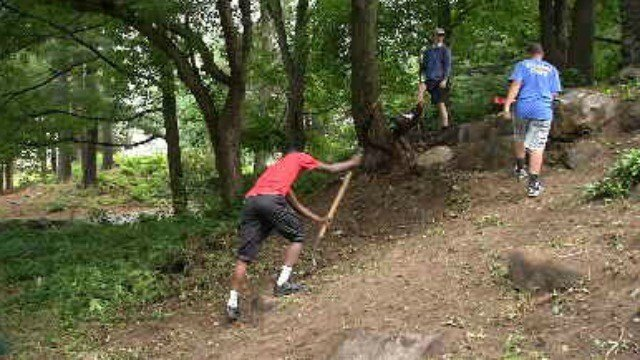 A group of Waterbury teens are working to clean up Fulton Park. (WFSB)