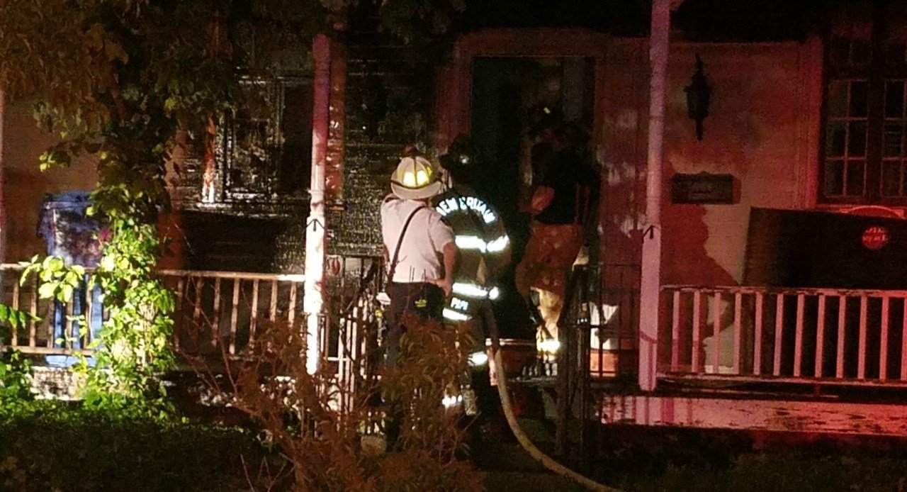 New Britain firefighters put out a house fire on Grove Hill Street. (WFSB)