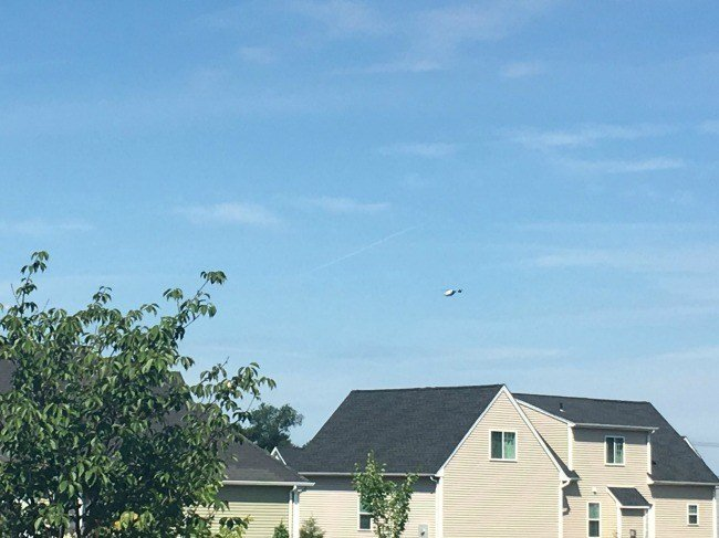 Life Star helicopter seen overhead in Ellington (WFSB)