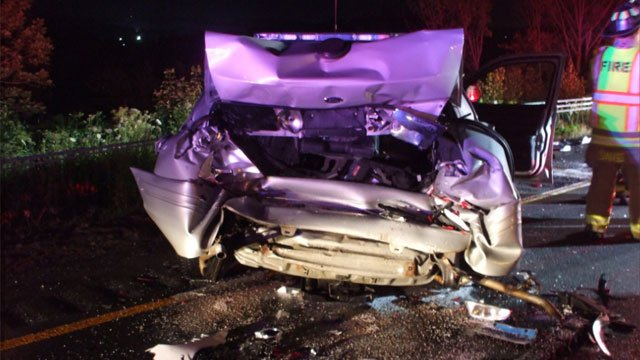 A State Police Trooper suffered minor injuries after crash early Monday morning. (CT State Police)