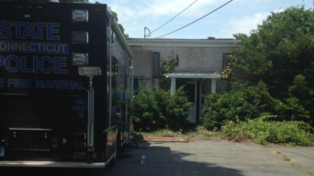 A fire at an abandoned building was ruled suspicious. (Vernon Police Department)