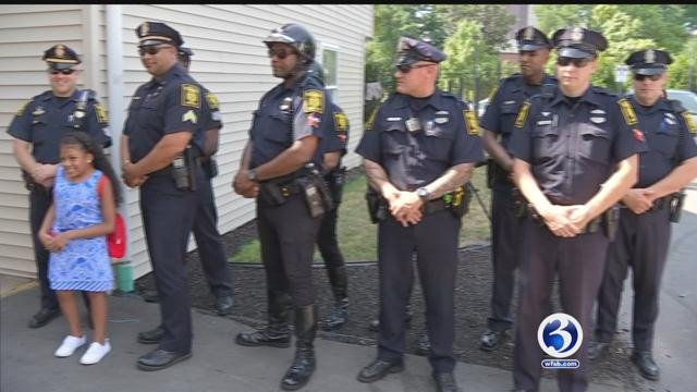 Hartford police help make a wish come true. (WFSB)