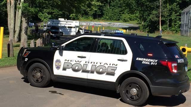 A body was found in Stanley Quarter Park in New Britain Tuesday morning. (WFSB photo)