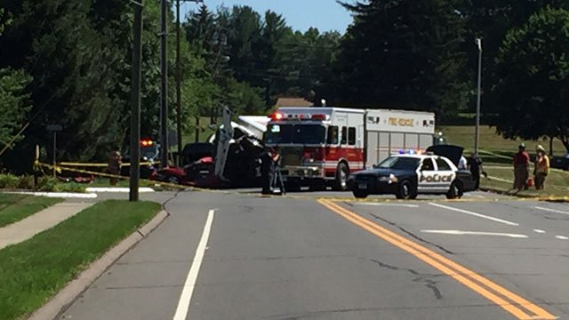 "One driver suffered ""serious"" injuries after crash on Route 287 in Wethersfield on Tuesday morning. (WFSB)"