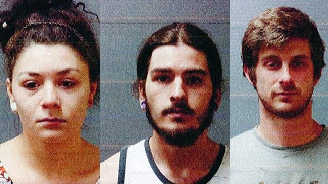 Megan Gudeahn, Wesley Carpenter, Thomas Giroux. (Putnam police photos)