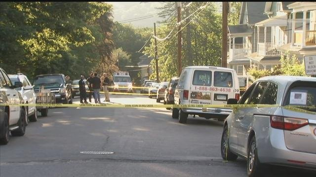 A police investigation is underway on Marion Avenue in Waterbury. (WFSB photo)