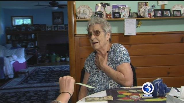 Concetta Perry couldn't believe the generosity of those who thought to help her. (WFSB)