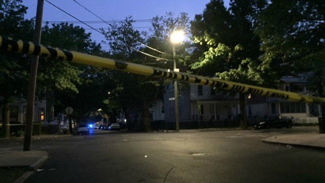 New Haven police investigate an early morning shooting on Shelton Avenue (WFSB).